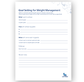 Goal setting for weight management download